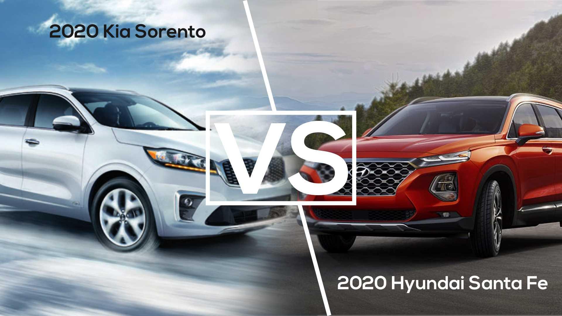 So sánh sơ bộ SantaFe 2021 vs Sorento 2020, chờ ngày về ...